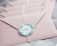 розовые пригласительные на свадьбу