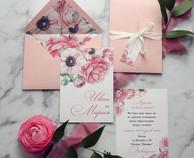пригласительные на свадьбу с цветами